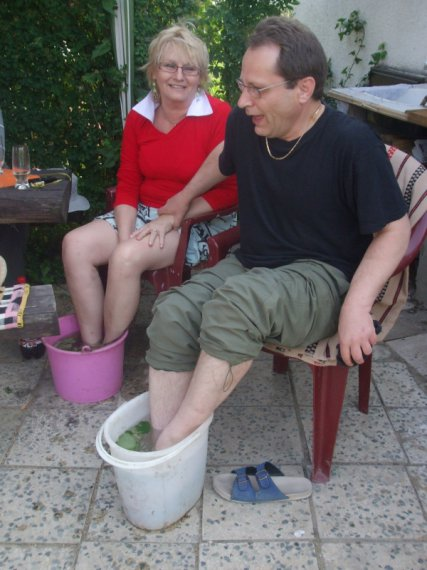DUDINCE-pred masážou nôh